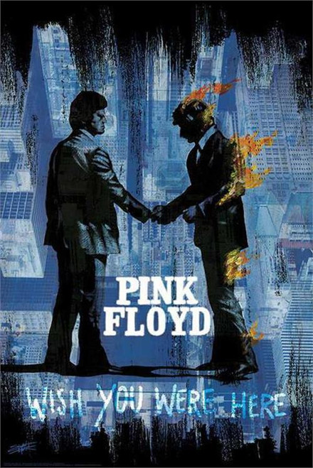 Pink Floyd Wish You Were Here Poster by: Stephen Fishwick 24-by-36 Inches Image