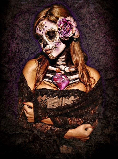 Day of the Dead Lace Poster by: Daveed Benito 24-by-30 Inches Image