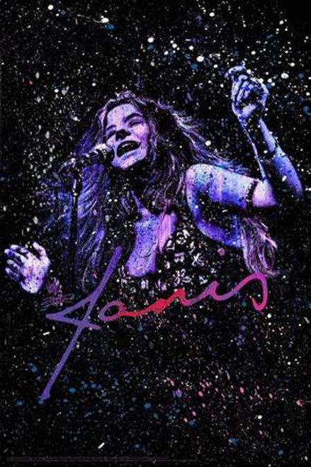 Janis Joplin Poster by: Stephen Fishwick 24-by-36 Inches Image