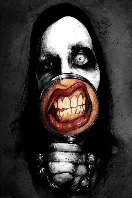 Marilyn Manson Poster by: Big Chris 24-by-36 Inches Image