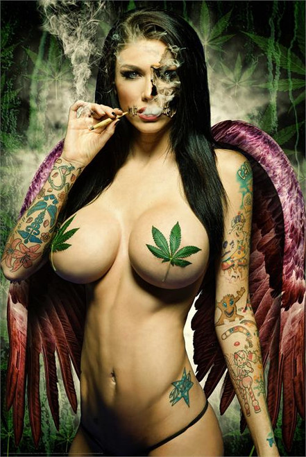 Ganja Girl Poster by: Daveed Benito 24-by-36 Inches Image