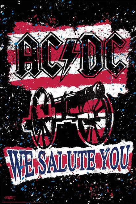 AC/DC We Salute You Poster by Stephen Fishwick 24-by-36 Inches Image