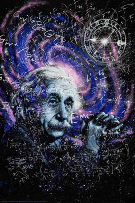 Einstein Theory Poster by: Stephen Fishwick 24-by-36 Inches Image
