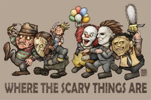 Where the Scary Things Are Poster by: Big Chris 36-by-24 Inches Image
