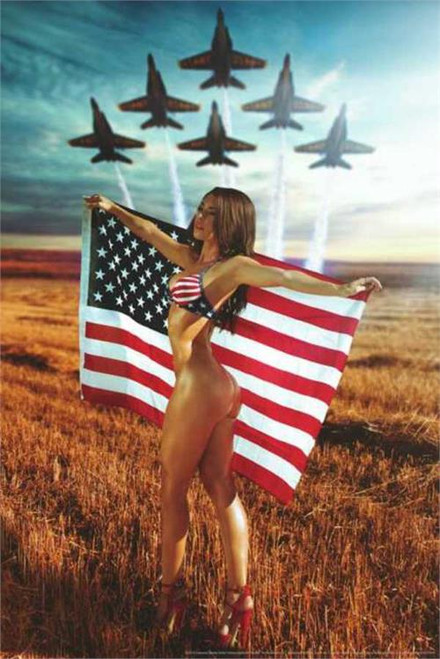 All American Girl Poster by: Daveed Benito 24-by-36 Inches Image