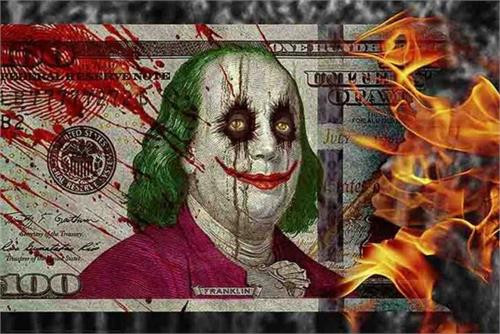 100 Dollar Joker Poster by: Daveed Benito 36-by-24 Inches Image