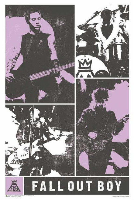 Fall Out Boy Faded Panels Poster - 24-by-36 Inches Image