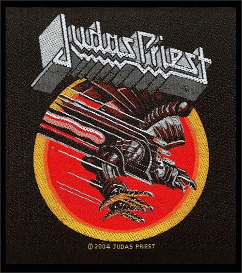"Judas Priest Screaming For Vengeance - Woven Sew On Patch 4"" x 4"" Image"