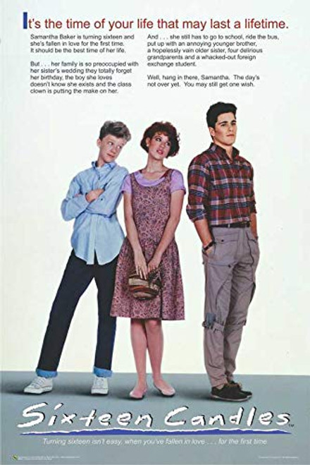 "Sixteen Candles Official Movie Poster - 24"" x 36"" Image"