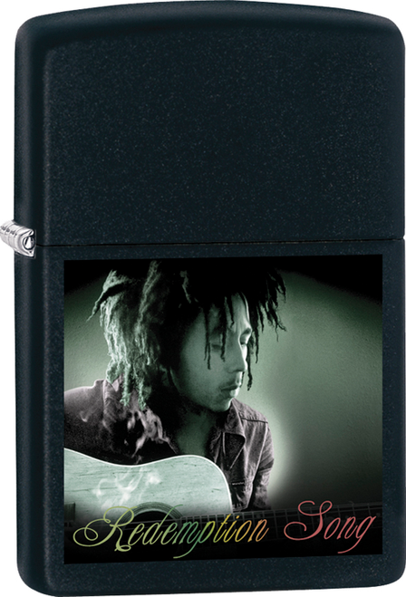 Bob Marley - Playing Guitar Black Matte Zippo Lighter