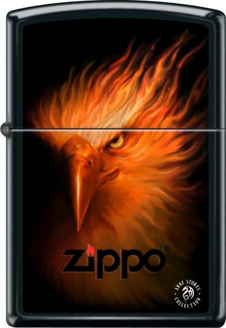 Anne Stokes - Phoenix Black Matte Zippo Lighter