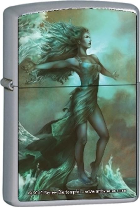 Breaking Waves - Renee Biertempfel -  Brushed Chrome Zippo Lighter