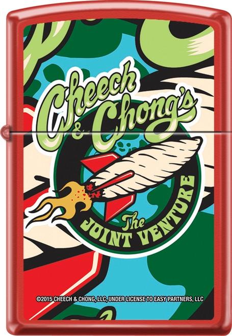 Cheech & Chong - Joint Venture - Red Matte Zippo Lighter