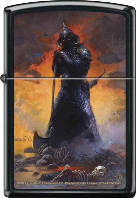 Frazetta - Death Dealer Three - Black Matte Zippo Lighter