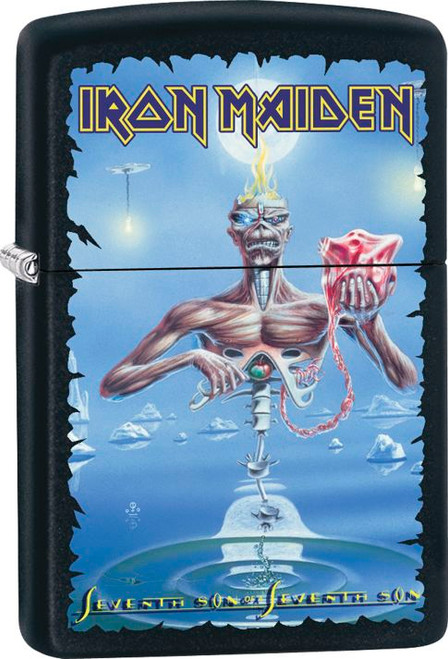 Iron Maiden Black Matte Zippo Lighter
