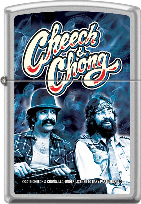 Cheech & Chong -  Court -Chrome Zippo Lighter