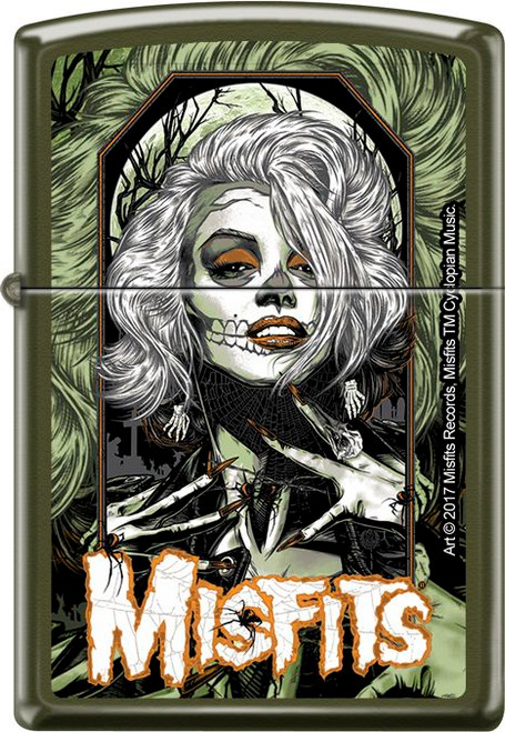 Misfits 'Original Misfit' Green Matte Zippo Lighter