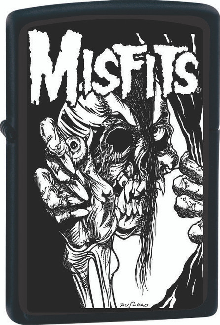 Misfits Pushead Mommy Can I Go Out and Kill Tonight Black Zippo Lighter