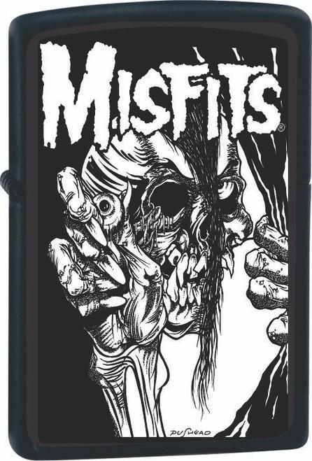 Misfits Pushead Mommy Can I Go Out and Kill Tonight Black Zippo Lighter