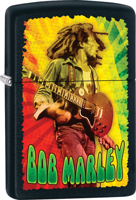 Bob Marley - Concert Black Matte Zippo Lighter