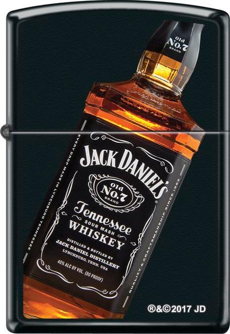 Jack Daniels - Bottle Black Matte Zippo Lighter