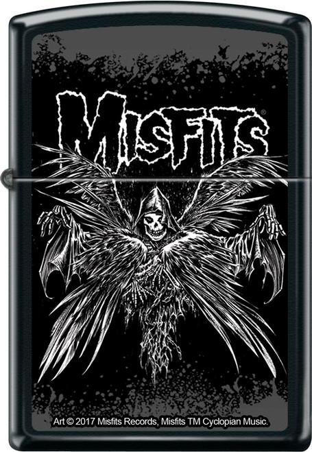 Misfits Descending Angel Black Matte Zippo Lighter