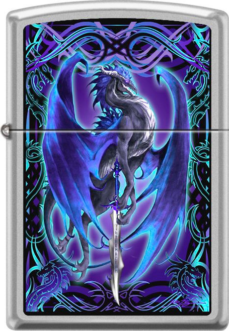 Stormblade By Ruth Thompson - Satin Chrome Zippo Lighter
