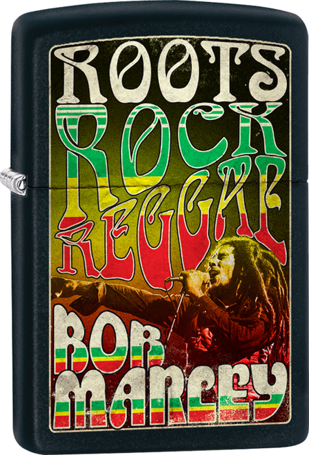 Bob Marley - Roots, Rock, Reggae Street Chrome Zippo Lighter