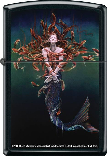 Metamorphosis by: Sheila Wolk- Black Matte Zippo Lighter
