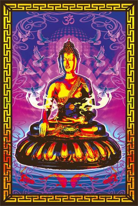 Buddha Non-Flocked Blacklight Poster Image