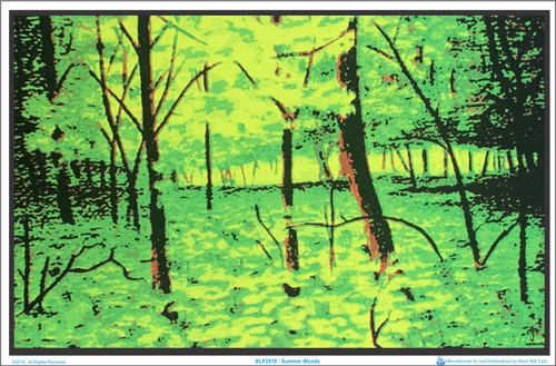Image of Summer Woods Black Light Poster