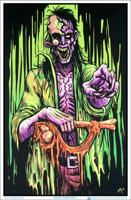 Image of Zombie Stalker Black Light Poster