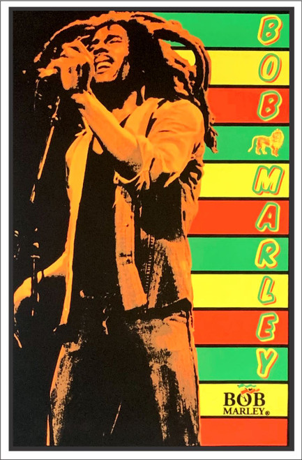 "Bob Marley - Flocked Blacklight Poster 23"" X 35"""