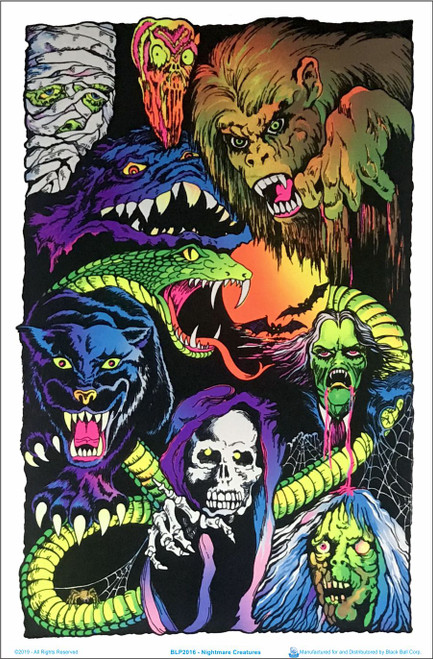 Nightmare Creatures Blacklight Poster Image