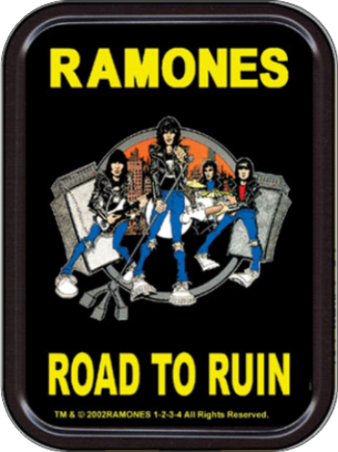 Ramones Road to Ruin Stash Tin Storage Container Image