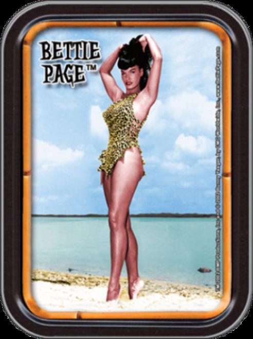 Beach Bettie Page Stash Tin Storage Container Image