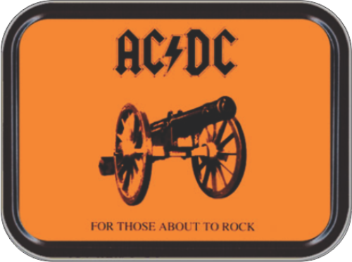 AC/DC Forthose About to Rock Stash Tin Storage Container image