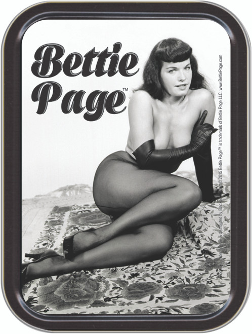 Bettie Page Sexy Stash Tin Storage Container Image