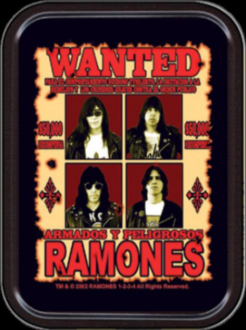 Ramones Wanted Stash Tin Storage Container Image