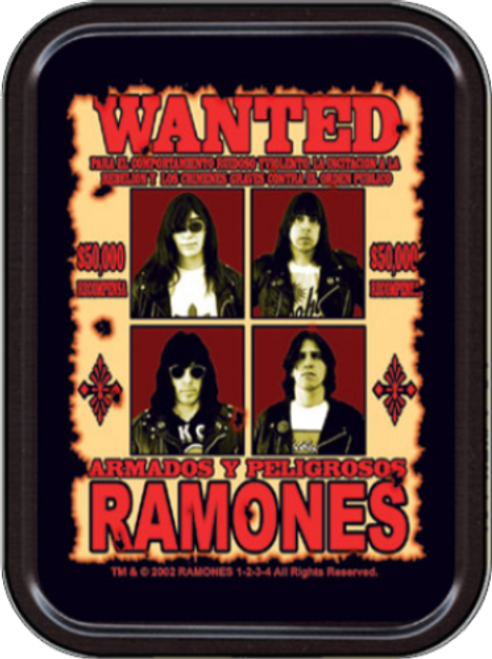 Ramones Wanted Stash Tin Storage Container Image
