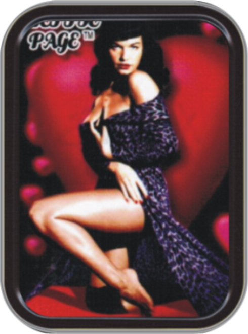 Bettie Page Robe Stash Tin Storage Container Image