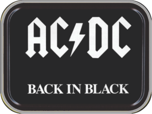 AC/DC Back In Black Stash Tin Storage Container Image