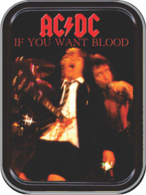 AC/DC If You Want Blood Stash Tin Storage Container Image