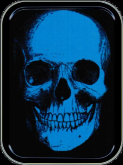 Blue Skull Stash Tin Storage Container Image