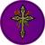 "Celtic Cross & Roses - Round Sticker - 2 1/2"" Round"