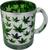 Metallic Glass Coffee Mugs 16oz (Green)