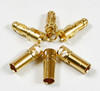 Bullet Connectors 3.5MM Gold Plated (3 Pairs)