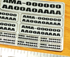 FAA / AMA Labels Custom Label Order - Black Letters