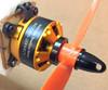 Motor Mount- Quad rear mount to airplane flange adapter kit -Alum