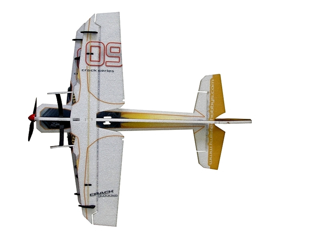"TH 30"" EPP Crack Pitts M12 Biplane Yellow"